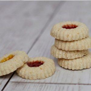Stack of Jammy Cookies